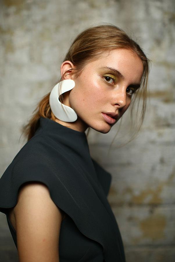 "Bianca Spender, with jewellery by <a href=""https://www.instagram.com/dinosaur_designs/?hl=en"">Dinosaur Designs</a>."