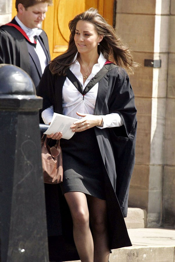 <strong>At her University graduation, 2005.</strong>
