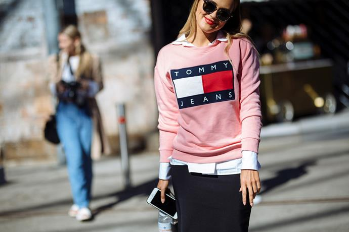 <strong>Sports Sweatshirts: </strong> <br><br> The humble hoodie got a high fashion makeover thanks to Sydney's street style set. If not Vetements then an ironic '90s logo was mandatory.
