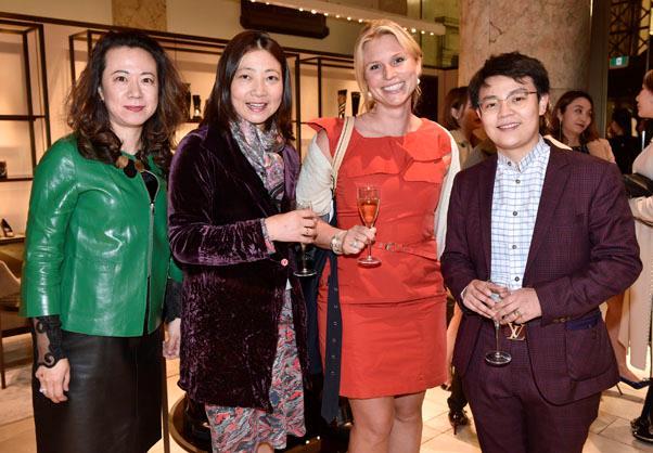 Guests Grace Tsui, Mary Hart, Maja Enander and Young Zhang.