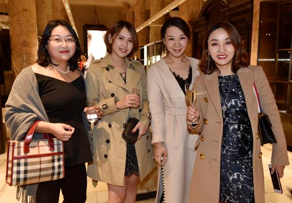 Joyce Chen, Pampam Su, Angxi Tng and Vicki Feng all dressed in Burberry.