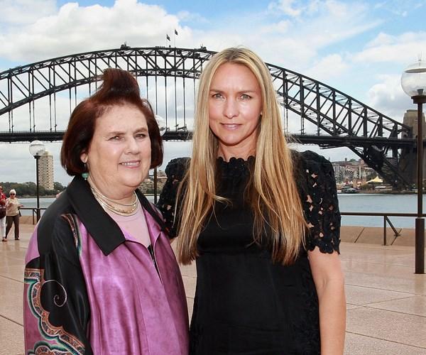 Fashion designer Collette Dinnigan with British fashion critic Suzi Menkes.