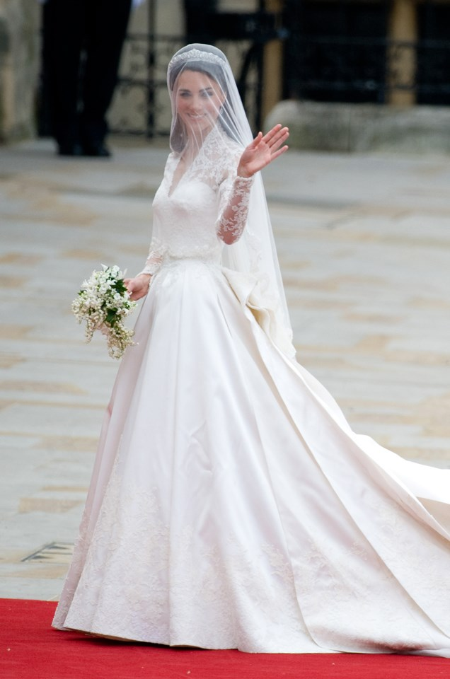 Who could forget this gown?! The world watched as Kate Middleton's love affair with Alexander McQueen ignited at the royal wedding.