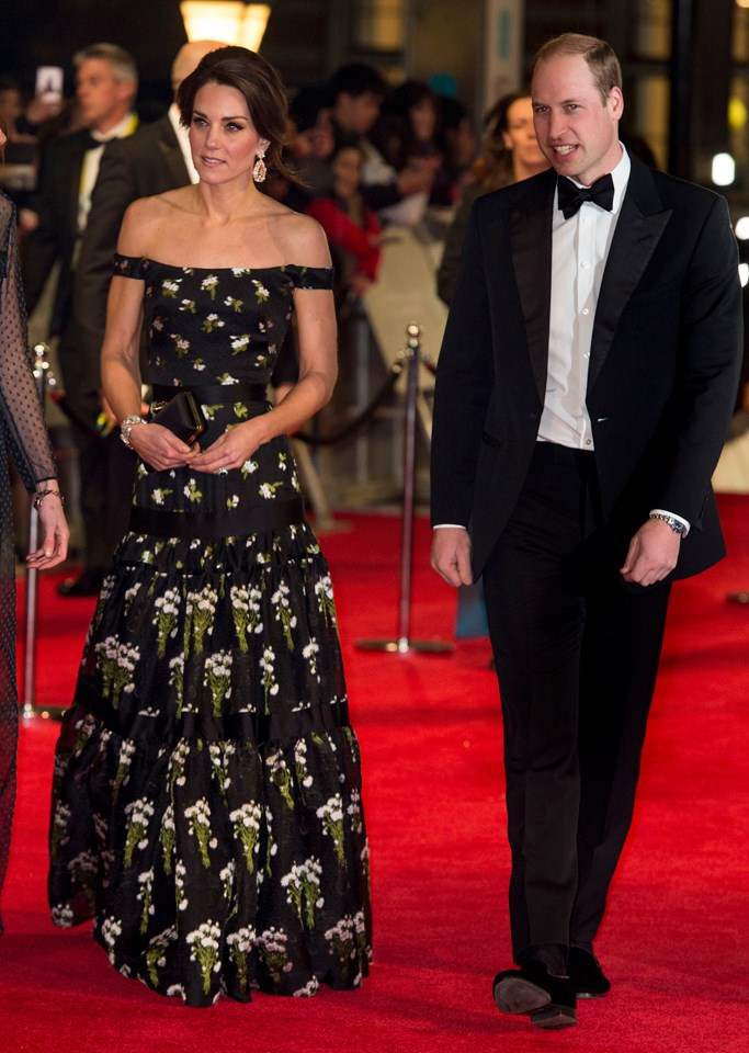 Middleton looked every inch the Hollywood star in this glamorous gown at the BAFTA Awards in February.