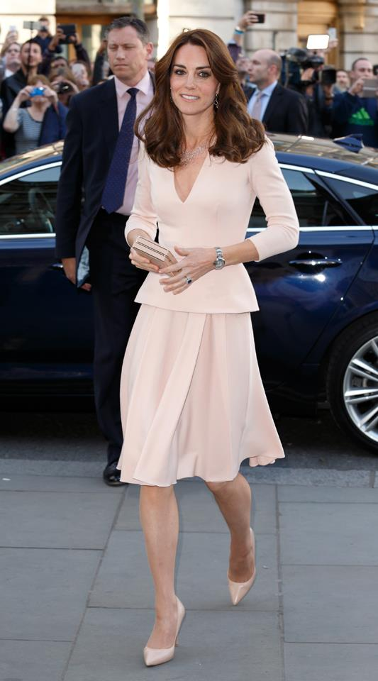 Kate looked chic in an Alexander McQueen two-piece at an event at the National Portrait Gallery in 2016.