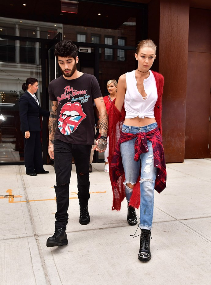 <strong>Gigi Hadid and Zayn Malik</strong><br> They may not want to be known as a power couple, but it's no secret these two are the king and queen of matching street style.