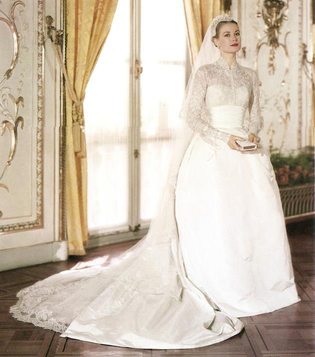 <strong>Grace Kelly</strong><br> Grace Kelly's iconic wedding gown was made with 100 yards of the finest silk and 25 yards of taffeta by MGM costume designer Helen Rose. At the time, it cost a humble $8,000—but in today's terms, it would be well over $150,000 AU.