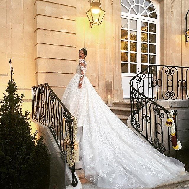 <strong>Noores Fares</strong><br> Jewellery designer Noores Fares married in front of a star-studded guest list while wearing a Giambattista Valli couture gown estimated to have cost $868,000 ($1.15 million AU).