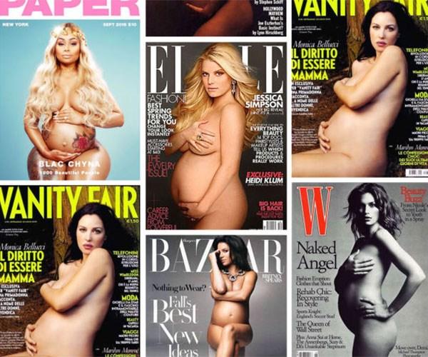 Pregnant Celebrity Nude Magazine Covers