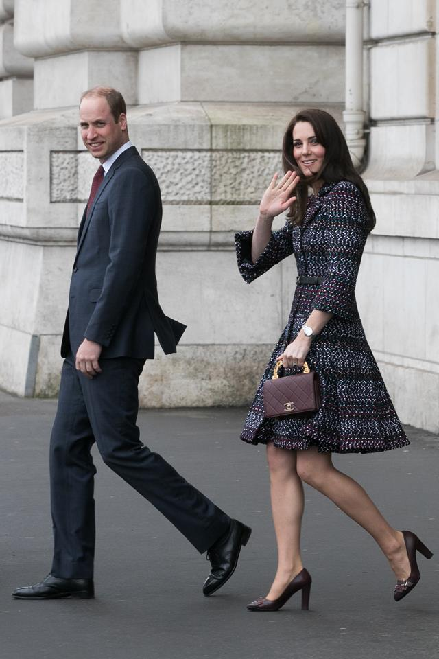 When Kate stepped out in Paris wearing head-to-toe Chanel, we were so taken with her tweed suit that we (almost) missed her burgundy Chanel bag.