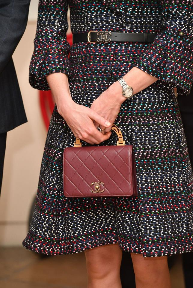 Close-up detail of Kate's bag.