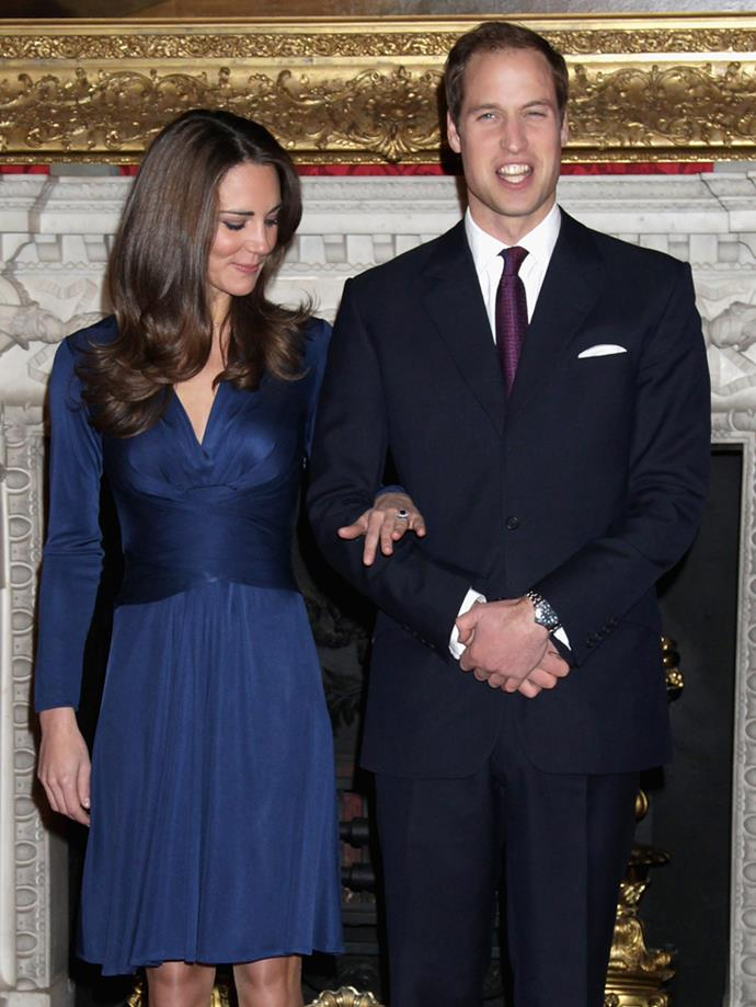 Since getting engaged to Prince William in 2011, Kate Middleton has never taken her gorgeous sapphire heirloom engagement ring off.
