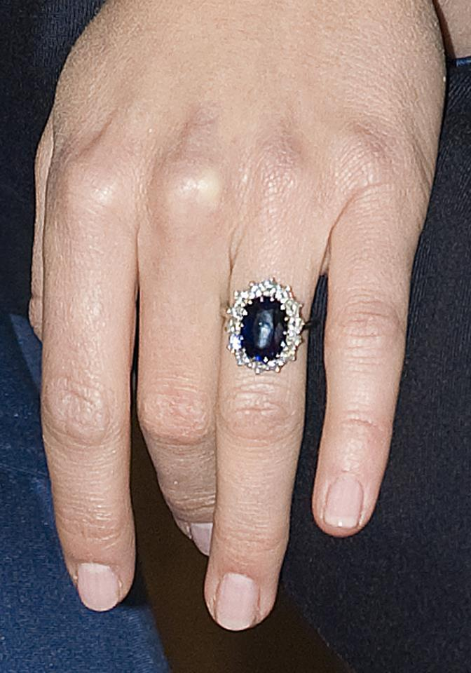 Close-up detail of Kate's ring.