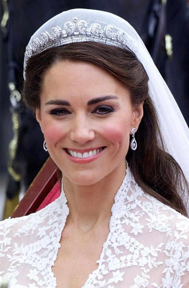 Close-up detail of Kate's tiara.