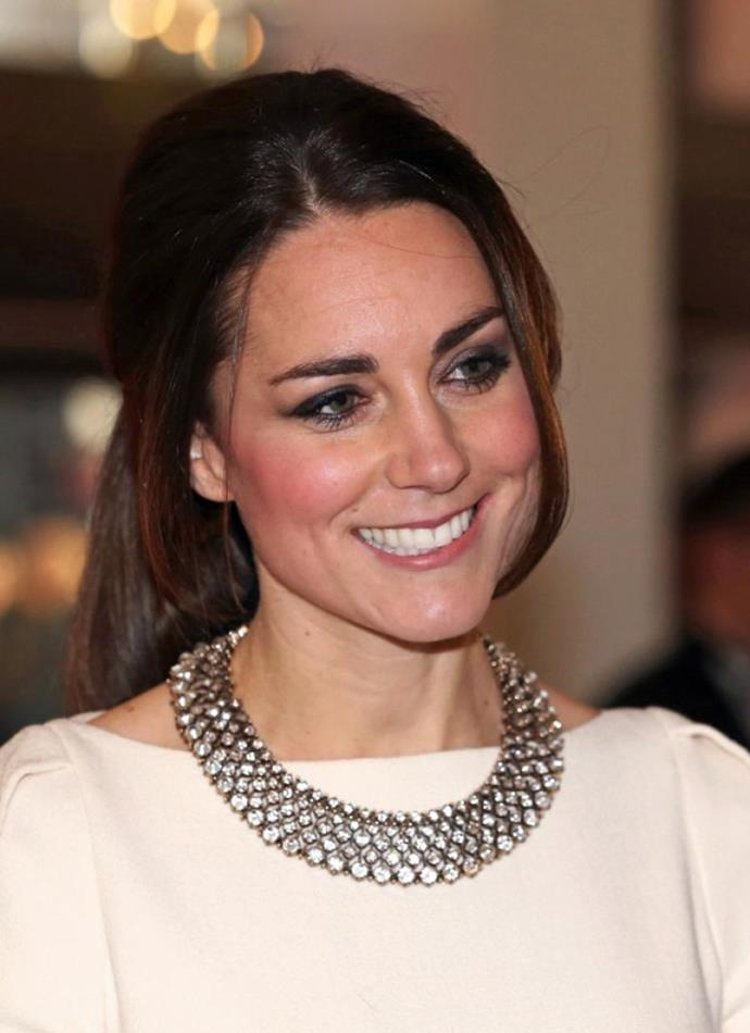Close-up detail of Kate's necklace.