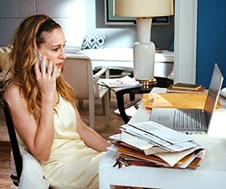 carrie bradshaw office
