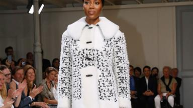 Naomi Campbell Hit The Runway For Alaïa's Haute Couture Comeback
