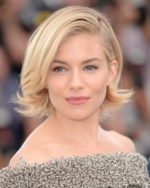 Sienna Miller with a short bob.
