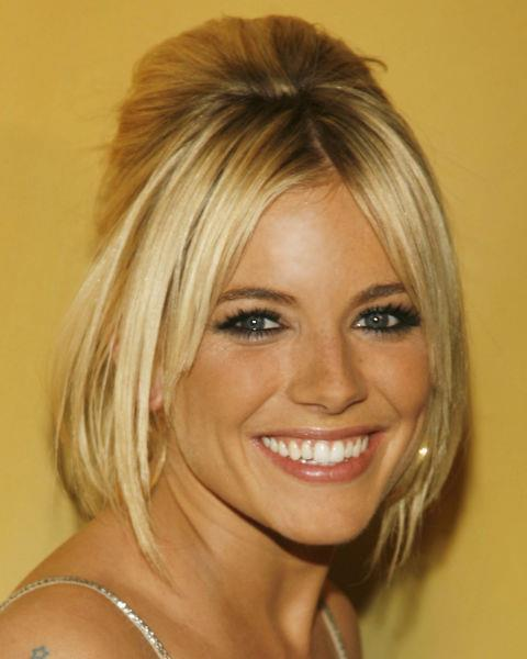 Sienna Miller with a beehive.