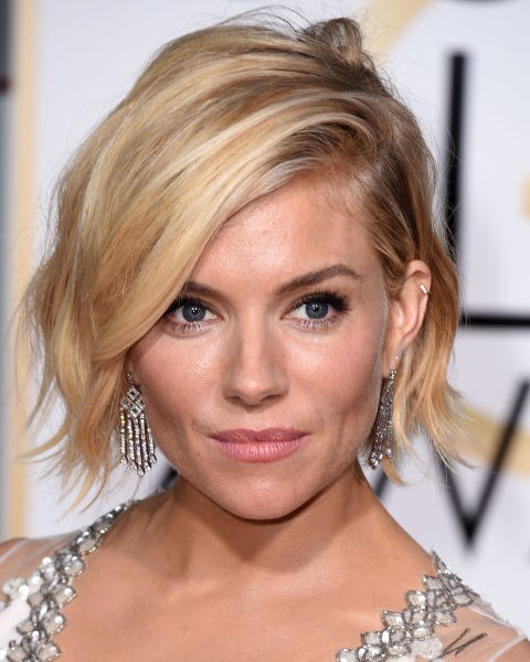 Sienna Miller with a tousled bob.