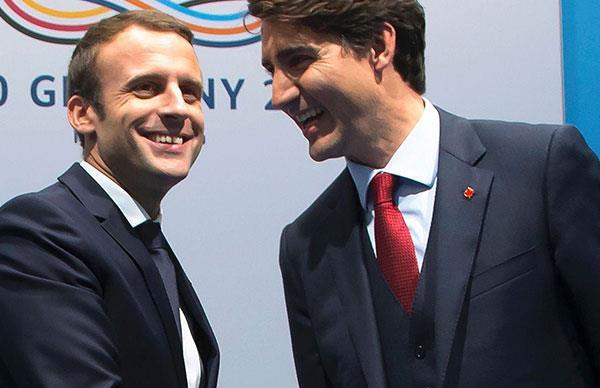 Justin Trudeau And Emmanuel Macron Bro-Hug At The G20