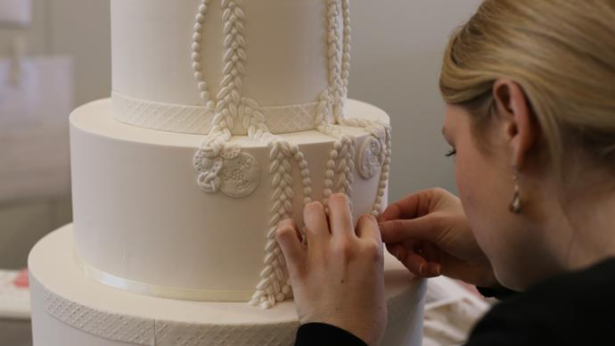 Making of a Wedding Cake