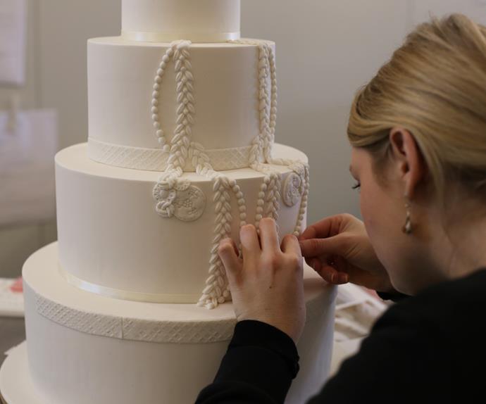 Making of a Wedding Cake