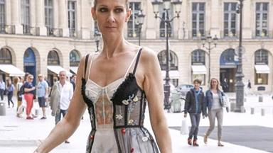 Celine Dion Steps Out In Paris In Alexander McQueen Lingerie