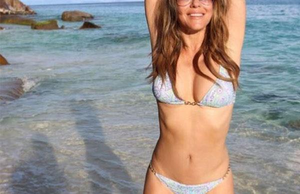 Everything Liz Hurley Does To Look This Good In A Bikini At 52