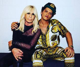 Donatella Versace Lipsyncs Bruno Mars