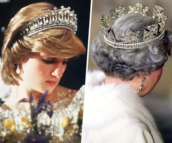 crowns holding diana elizabeth