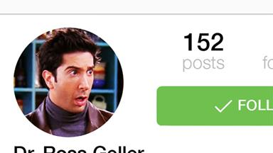 If Ross Geller From 'Friends' Had Instagram