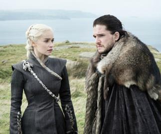 Daenerys Targaryen and Jon Snow on Game of Thrones