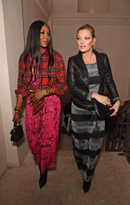 Naomi Campbell and Kate Moss at Burberry.