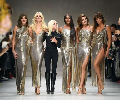 Versace Hosted The Ultimate Supermodel Reunion on the Runway