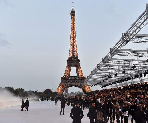 Saint Laurent's Sultry Show Took Place Beneath A Shimmering Eiffel Tower