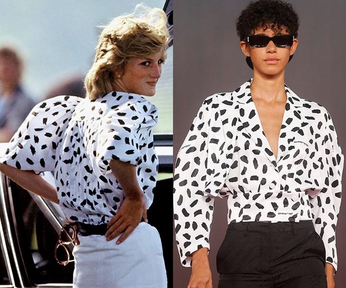 Off-White Princess Diana collection.