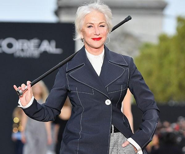 Helen Mirren Jane Fonda Paris Fashion Week