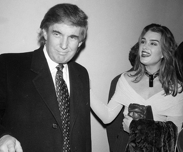 Brooke Shields Donald Trump together