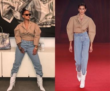 Rihanna Wore Kaia Gerber's Off-White Runway Look