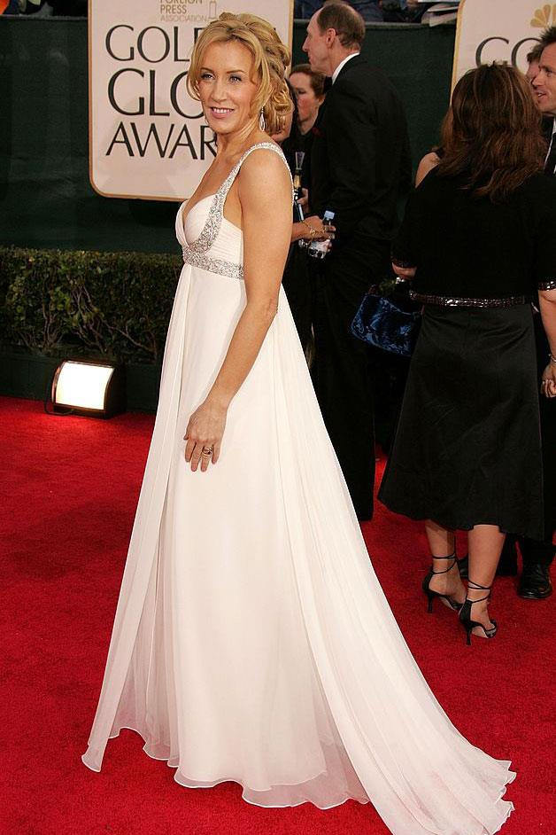 Felicity Huffman in Marchesa at the 2006 Golden Globes.