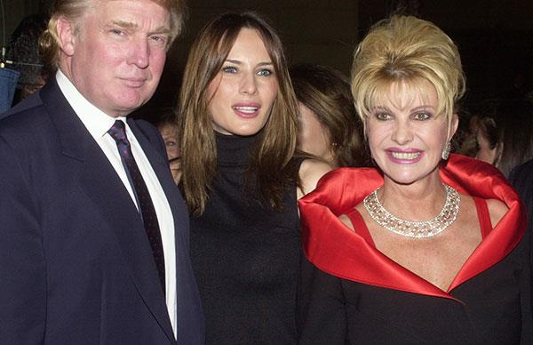 Ivana Trump Melania Trump Fight