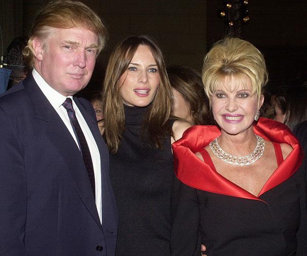 Ivana Trump Melania Trump Fight