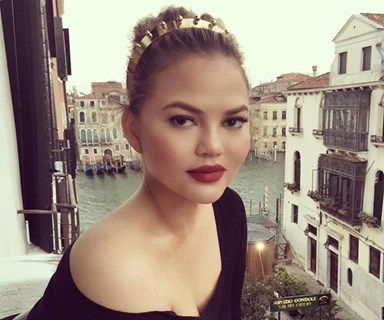 Chrissy Teigen Wore Zimmermann And One Of 2017's Most Popular Trends