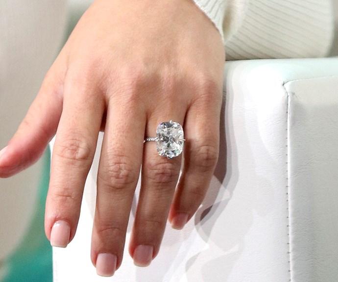 Kim Kardashian engagement ring.