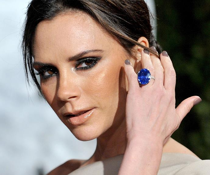 Victoria Beckham engagement ring.