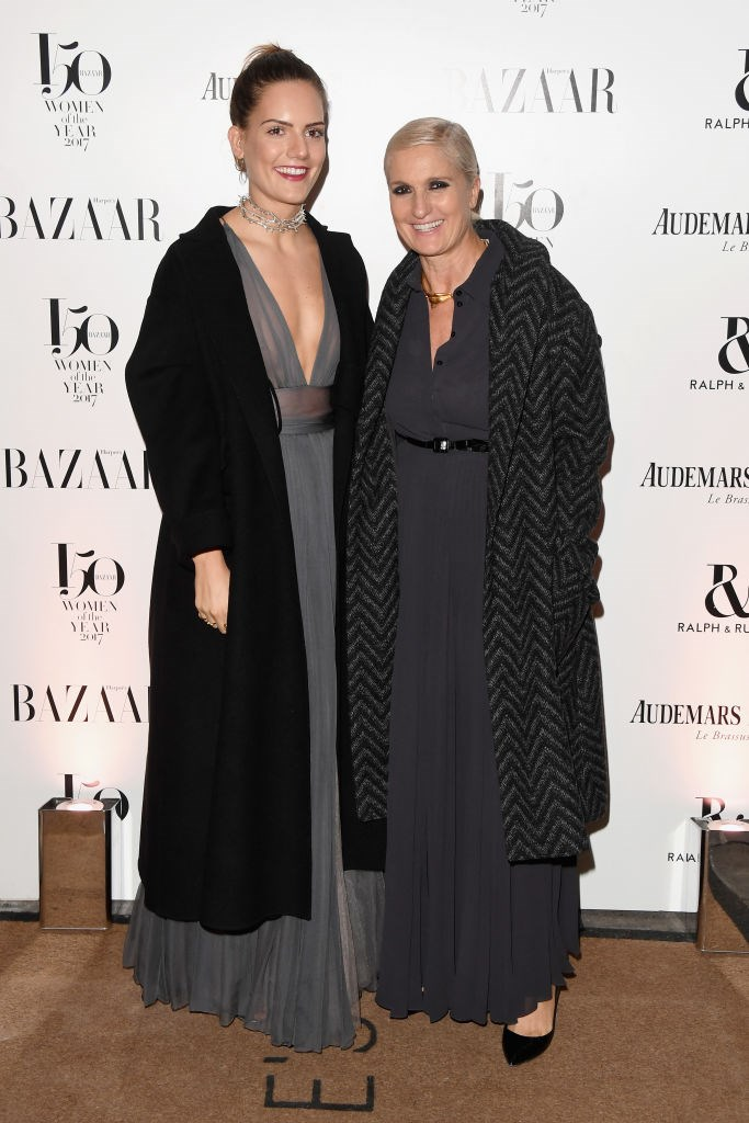 Designer Maria Grazia Chiuri and her daughter arrive at the Harper's Bazaar Woman Of The Year Awards.