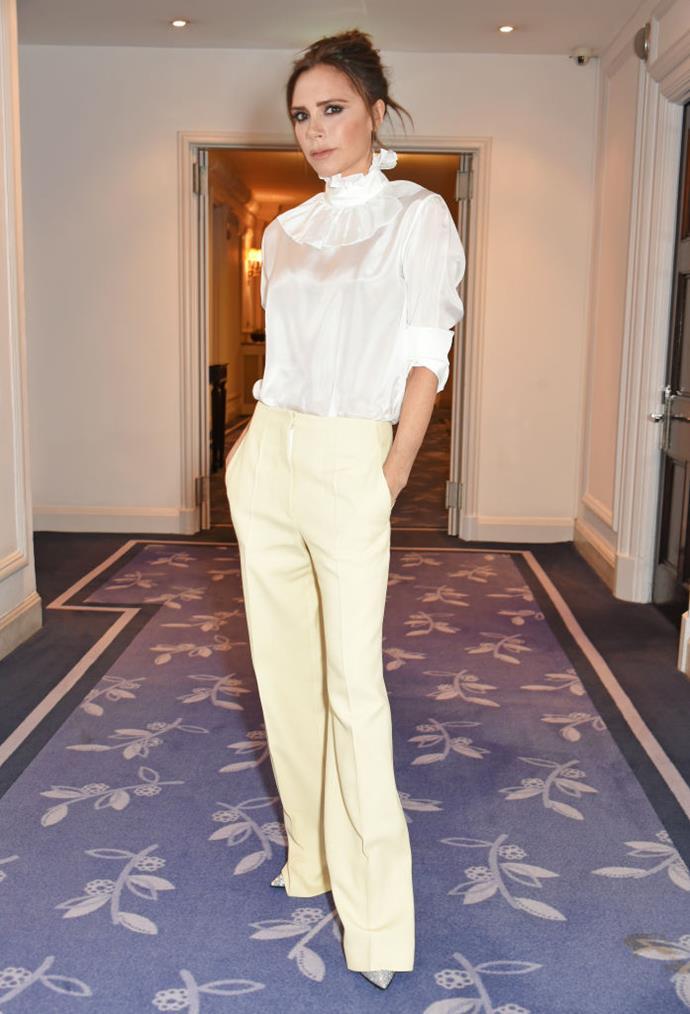 Victoria Beckham attends Harper's Bazaar Women of the Year Awards.