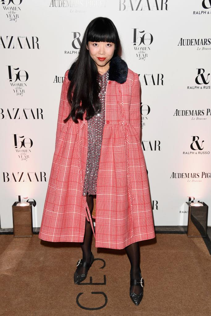 Susie Lau arrives at the Harper's Bazaar Woman Of The Year Awards.