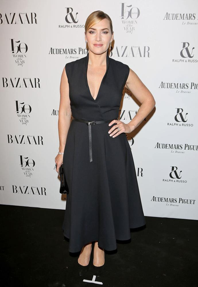 Kate Winslet arrives at the Harper's Bazaar Woman Of The Year Awards.